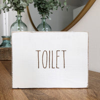 Toilet Bathroom Farmhouse Sign