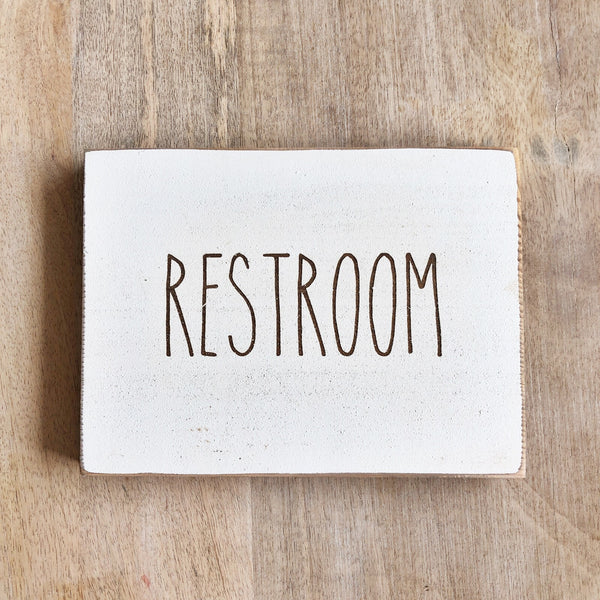 Restroom Bathroom Farmhouse Sign