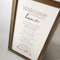 Welcome Home Farmhouse Sign