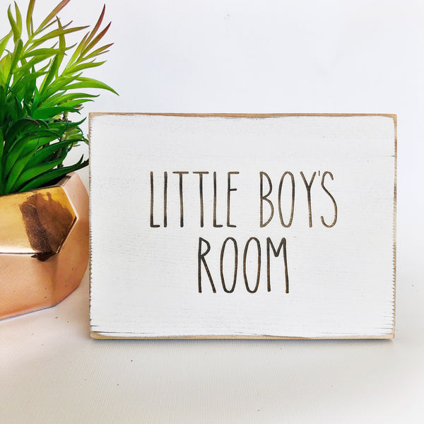 Little Boy's Room Bathroom Farmhouse Sign