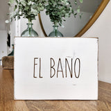 El Bano Bathroom Farmhouse Sign