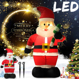 1.2M LED Air Inflatable Crutches Santa Snowman Claus With Blower Garden Outdoor Layout Christmas Decor Figure Kids Classic Toys