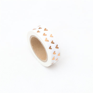 1.5cm*10m Loving gilding Washi Tape Adhesive Tape DIY Scrapbooking Sticker Label Craft Masking Tape