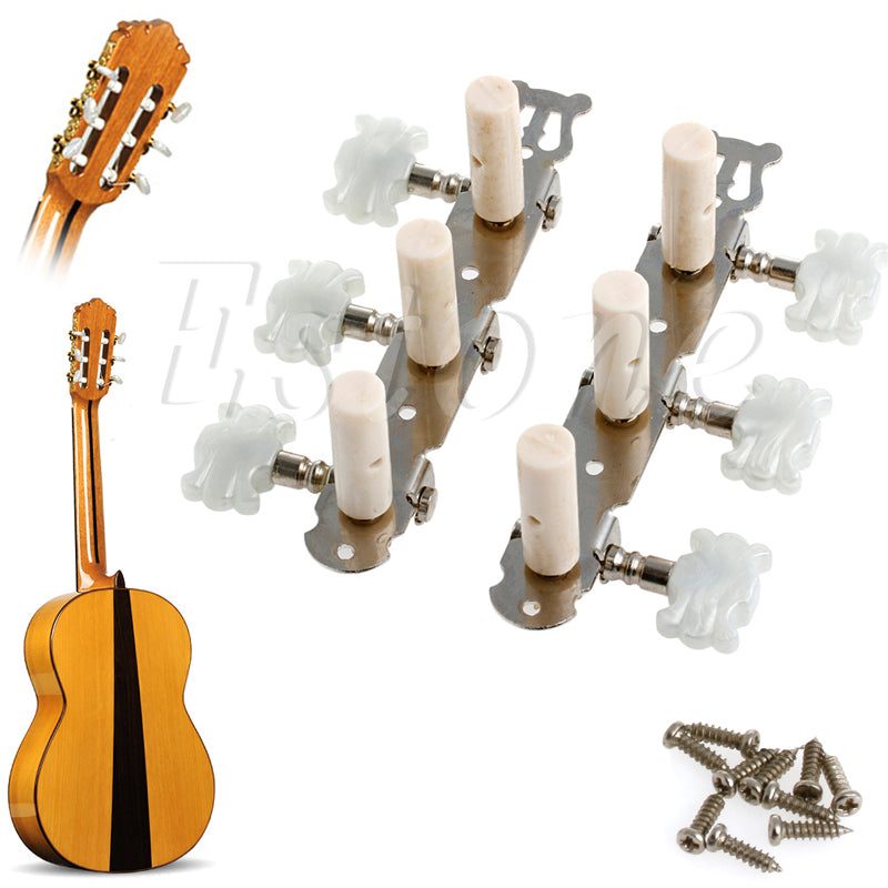 1 Pair Guitar Tuning Pegs Machine Tuners White Machine Head for Classic Guitar