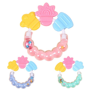 1 Pc Baby Cartoon Bed Hand Rattles Bell Teether Toys Musical Instruments Baby Shaker Toys Newborn Baby Teething Toy Random Color