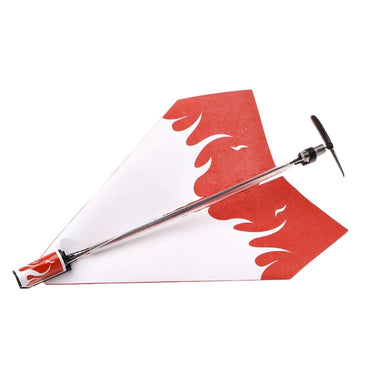 1 Set Electric Motor Paper Airplane Model DIY Power Up Flying Plane Kids Toys W15