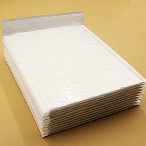 10 PCS 20*24cm Pearl White Usable Space Poly Bubble Mailer Envelopes Padded Mailing Bag Self Sealing Anti-pressure Anti-static