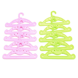 10 Pcs High Quality Dolls Clothing Accessory Double Color Hangers for Doll LTT9710