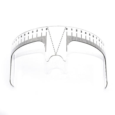 10 pcs Eyebrow Grooming Stencil Shaper Ruler Measure Tool Makeup Reusable Eyebrow Ruler Tool Measures