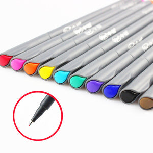 10 pcs/Lot Fine line drawing pen for manga cartoon advertising design Water Color pens Stationery Office school supplies A6954