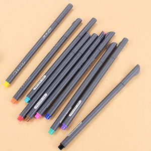 10 pcs/lot Gel Pen Fine Color Hook Line Pen 0.38mm Drawing Stroke Needle Pen Gift For Kids Stationery Learning School Supplies