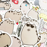 100 PCS Office Wall Refrigerator Waterproof Stickers For A Diary Laptop Emoji Stationery Guitar Anime Funny Fridge Sticker
