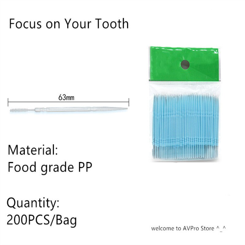 100pcs/box Double Head Dental Floss Interdental Toothpick Brush Brush Teeth Stick Dental Oral Care Toothpicks Floss Pick