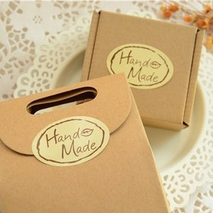 100pcs/lot Kawaii leaf Hand Made Seal Sticker High Quality Handmade Gift Label Sticker