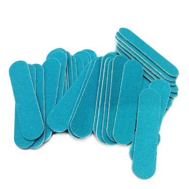 100pcs/lot  Mini Nail File Wood Blue Mini Nali Files Polishing Buffing Sandpaper Sanding lime a ongle Cheap Manicura Tool