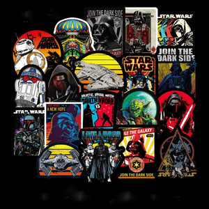 100pcs/pack Super Cool Star Wars Stickers for Luggage Laptop Decal Skateboard Stickers Moto Bicycle Car Guitar Fridge Sticker