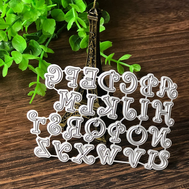 102*69mm Bone Capital Alphabet Letter Metal Dies Cutting Dies Scrapbooking Embossing Dies Cut Stencils DIY  Cards Craft Dies