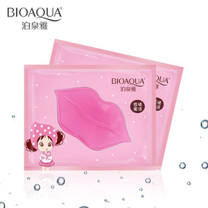 10Pc BIOAQUA Crystal Collagen Lip Mask Pads Moisture Essence Anti Ageing Wrinkle Patch Pad Gel Full Lips Enhancer