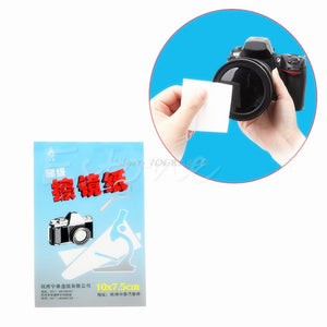 10Pcs/Lot 50 Sheets Soft Camera Lens Optics Tissue Cleaning Clean Paper Wipes Booklet