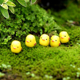 10Pcs/set Easter Party Mini Chicken Ornament Lovely Resin Fairy Miniature Garden Scene Home/Garden Crafts Decoration