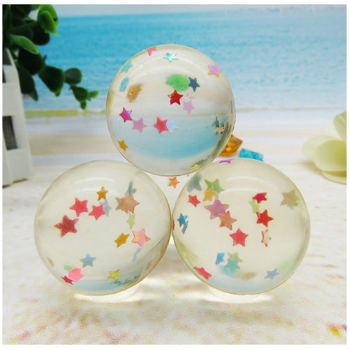 10pcs Children Toy Ball Colored Bouncing Ball Rubber Outdoor Toys Kids Sport Games Elastic Star Juggling Jumping Balls