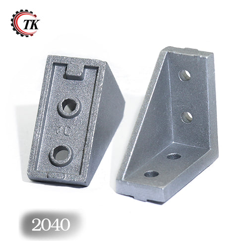 10pcs Corner Fitting Angle 20x20 20X40 2040 Decorative Brackets Aluminum Profile Accessories L Connector Fasten connector