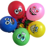 10pcs Cute Printed Big Eyes Smiling Face Latex Balloons Happy Birthday Party Decoration Inflatable Air Balloons for Kids Gift