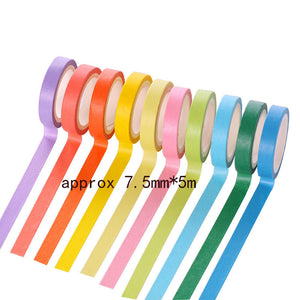 10pcs/Set Creative Exquisite Colorful Adhesive Tape Stationery Decoration Supplies For Kids Beautiful Rainbow Gift Sets