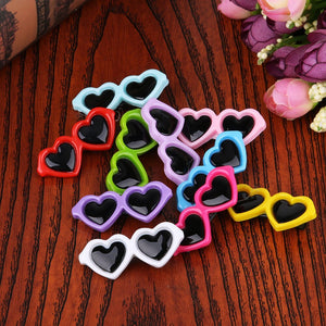 10pcs/Set Pet Lovely Heart Sunglasses Hairpins Pet Dog Bows Hair Clips for Small Puppy Dogs Cat Yorkie Teddy Pet Hair Decor