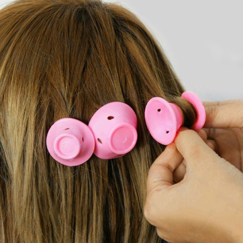 10pcs/lot Mushroom Hairstyle Roller DIY Silicone Women Sleeping Bell Curler Girl Hair Rollers Beauty Hair Care Styling Tools