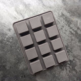 12 even square silicone Mold chocolate Mold cake Mold chocolate jelly baking tools K035