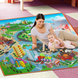 120 * 90cm Baby Toys Traffic Map Play Mat Floor Early Education Toddler Crawling Mat Safety Kids Climbing Blanket