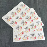 "120pcs/lot 40mm round flower ""thank you""packaging seals sticker labels for envelope wedding birthday gifts"