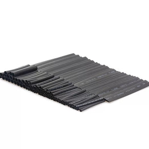 127pcs/lot Heat Shrink Tubing 7.28m 2:1 Black Tube Car Cable Sleeving Assortment Wrap Wire Kit with Polyolefin Assortment