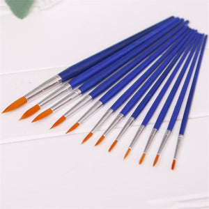 12pcs/pack Different Sizes Nylon Hair Paint Brush Set For Watercolor Acrylic Oil Painting Brushes Drawing  Art Supplies