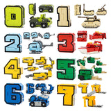 15pcs City DIY Creative Buildings Blocks Sets Transformer Number Figures Robot Kids LegoINGLs Toys for Children Christmas Gift