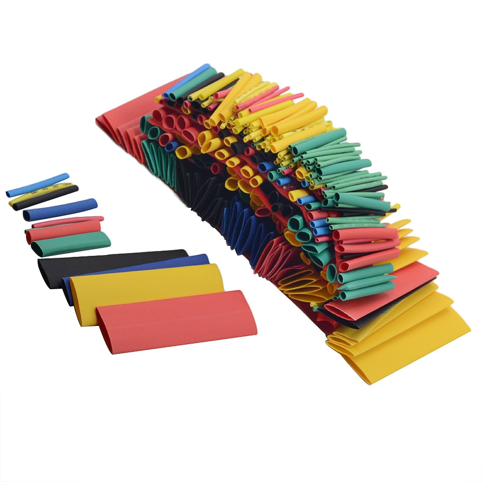 164pcs Assorted Polyolefin Heat Shrink Tubing Wire Cable Insulated Sleeving Tube