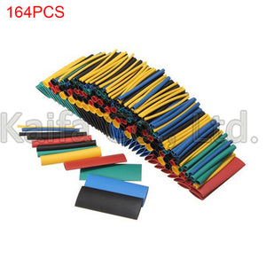 164pcs Set Polyolefin Shrinking Assorted Heat Shrink Tube Wire Cable Insulated Sleeving Tubing Set