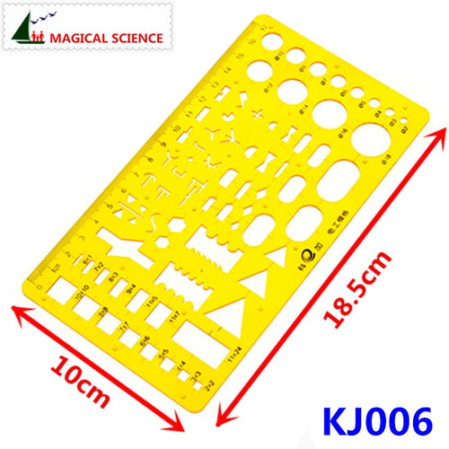 17cm plastic Electrical templates Students' Physical electrical Drawing ruler Circuit design drawing board KJ006