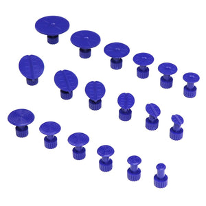 18 Pcs Purple Car Body Paintless Dent Hail Repair Tool Plastic Glue Puller Tabs Pad Automobile Repair Tools Set