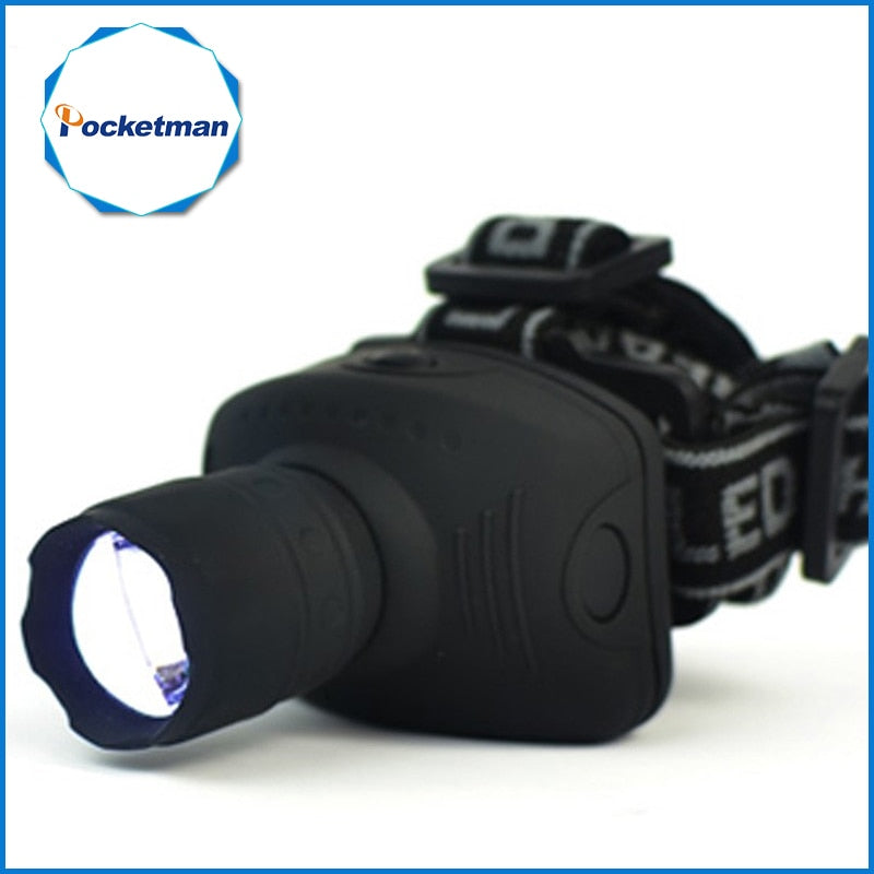 1800Lumen Headlamp LED Headlight Flashlight Frontal Lantern Zoomable Head Torch Light Bike Riding Lamp For Camping Hunting