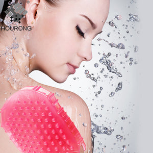 Silicone Exfoliating Brush Scrubber Bath Scrub Glove Spa Back Bath Gloves Exfoliation Shower Brush Body Bathroom Supplies