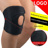 1PCS Adjustable Elastic Knee Support Brace Kneepad Patella Knee Pads Hole Sports Kneepad Safety Guard Strap For Running