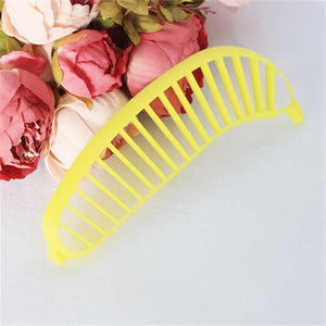 1PCS Banana Slicer Chopper Cutter Plastic Banana Make Tool Fruit Sausage Cereal Cutter Plastic Banana Cutting Tools