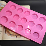 1PCS Silicone chocolate mold,cookies mold,15 Hole Round Shape Fondant Cake Tools, Cake Decorating D626