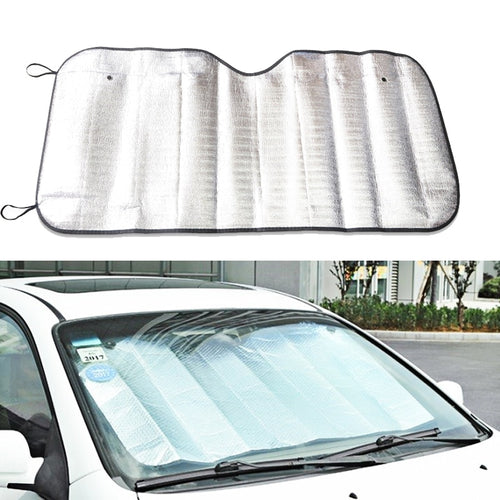 1Pc 130Cm *60Cm Car Rear Window Windshield Sunshade Front UV Protect Reflector Sun Shade For Car Window Covers Sun Visor Silver