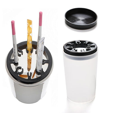1Pc Professional Handy Holder Acrylic Pen Cleaner Cup Washing Water Container Cup Nail Art Brush Pot Tool Nail Accessories