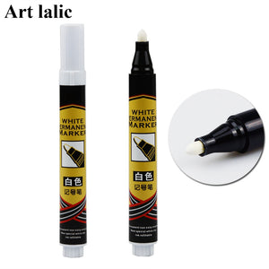1Pcs Permanent Marker Pen Singular White Oil-Ink Marker Pen for Metal Glass Plastic and Acrylic Blackboard Craft