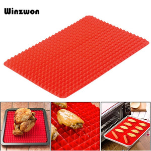 1Pcs Pyramid Shape Silicone Baking Tray Mat Sheets Pizza Cookie Barbecue Baking Pad Pans Holder Kitchen Cooking Tools