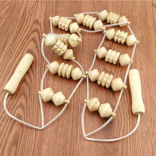 1Pcs Wooden Back Massager Wheel Full Body Neck Back Leg Waist Roller Massage Theraputic Care Healthy Care Braces Supports